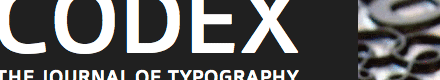 CODEX - The Journal of Typography [Detail]